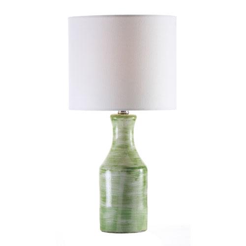 251 First Grace Aqua One-Light Table Lamp