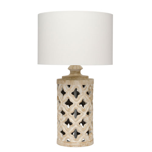Grace White Washed Ceramic One-Light Table Lamp