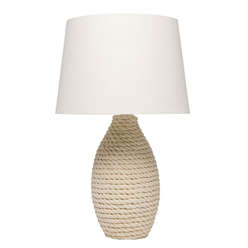 Grace White Rope One-Light Table Lamp