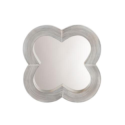 Grace Light Grey Wash Clover Mirror