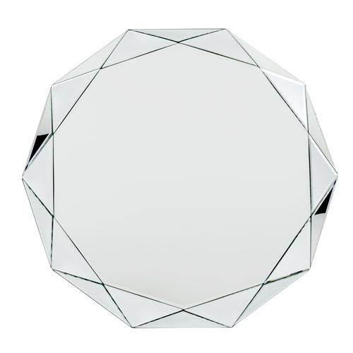Uptown Glass Round Mirror