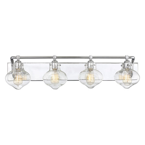 251 First Isles Polished Chrome 36-Inch Four-Light Bath Vanity