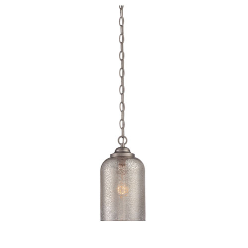 Whittier Satin Nickel One-Light Mini Pendant
