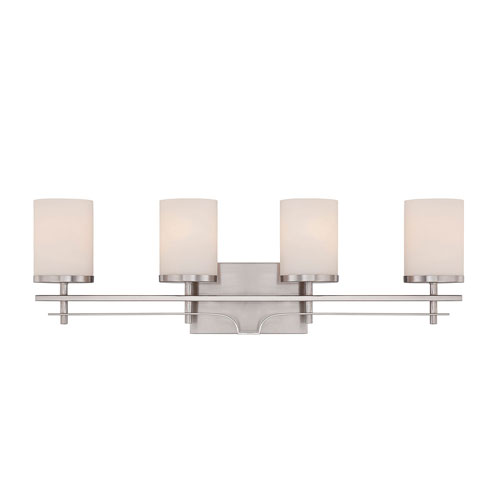 251 First Nicollet Nickel and Pewter Four-Light Bath Vanity