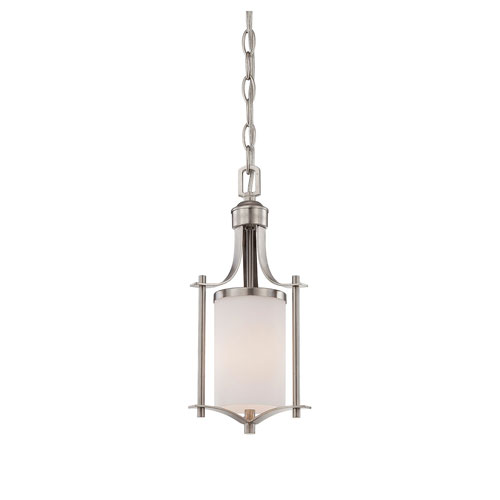 Nicollet Nickel and Pewter One-Light Mini Pendant