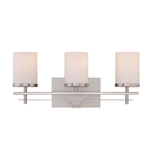 251 First Nicollet Nickel and Pewter Three-Light Bath Vanity