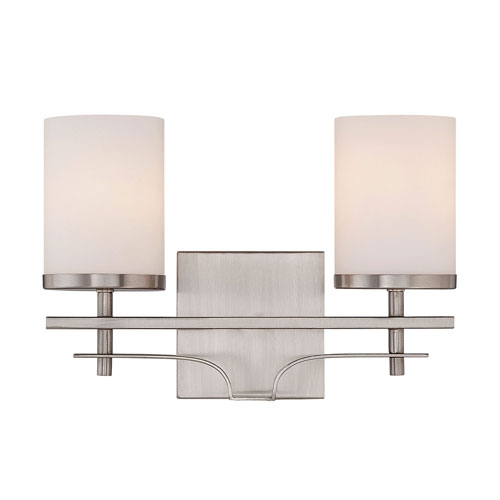251 First Nicollet Nickel and Pewter Two-Light Bath Vanity
