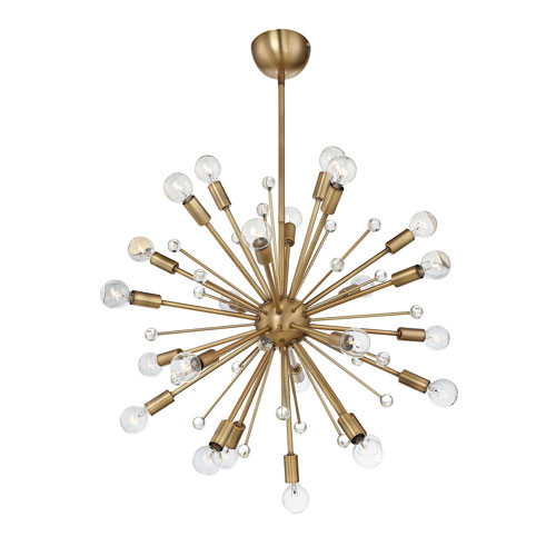Loring Warm Brass 24-Light Pendant