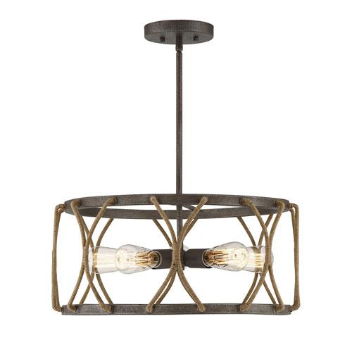 Afton Rust Five-Light Pendant