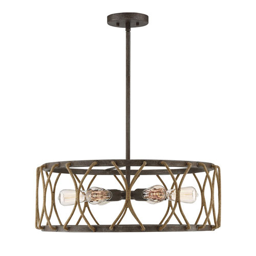 Afton Rust Six-Light Pendant