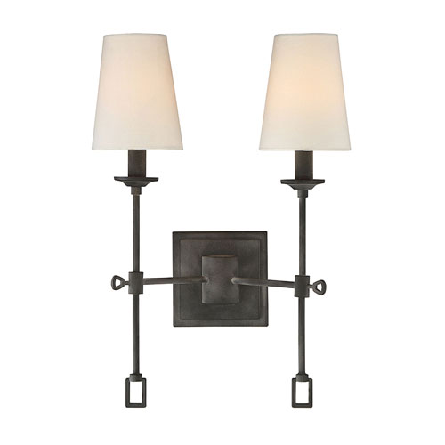Afton Oxidized Black Two-Light Wall Sconce