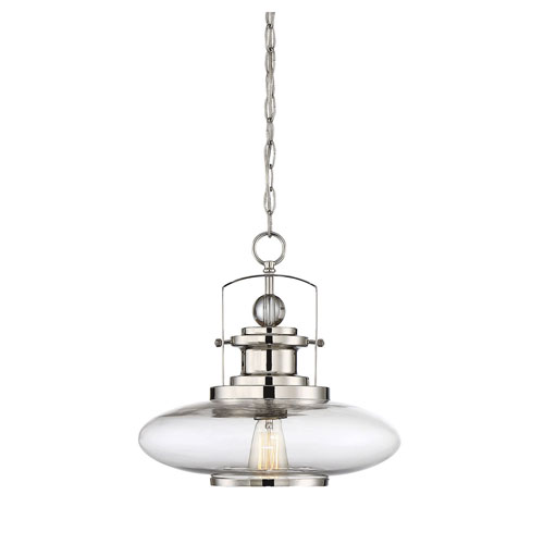 Afton Polished Nickel One-Light Pendant