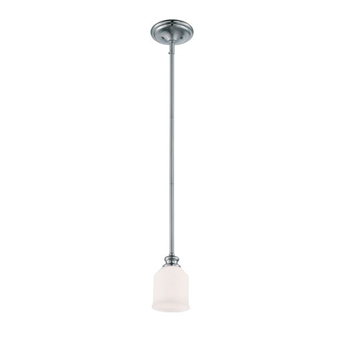 Evelyn Chrome and Polished Nickel One-Light Mini Pendant