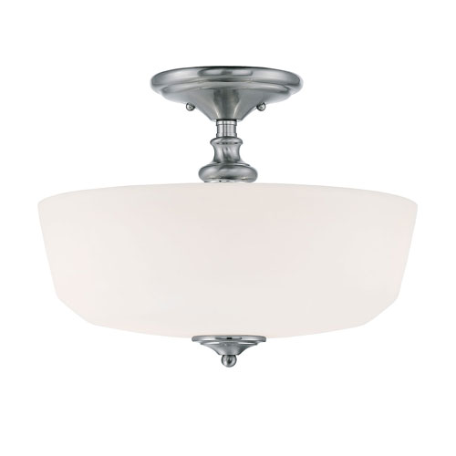 251 First Evelyn Chrome and Polished Nickel Two-Light Semi Flush Mount
