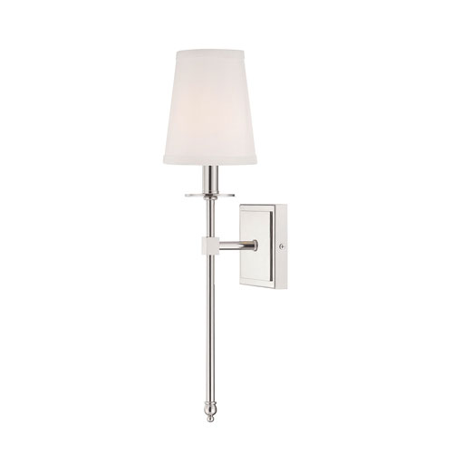 251 First Linden Polished Nickel Five-Inch One-Light Wall Sconce