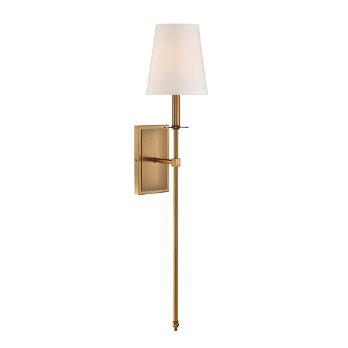 Linden Warm Brass Seven-Inch One-Light Wall Sconce