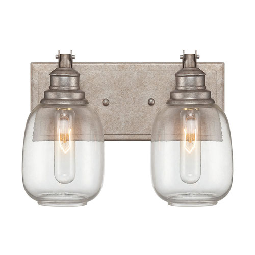 River Station Industrial Steel Two-Light Bath Vanity