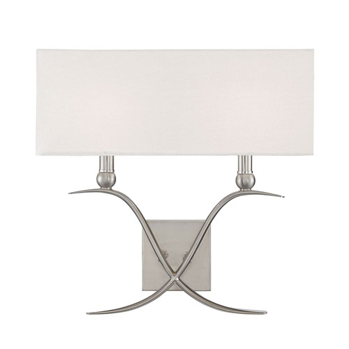 Linden Satin Nickel Two-Light Wall Sconce
