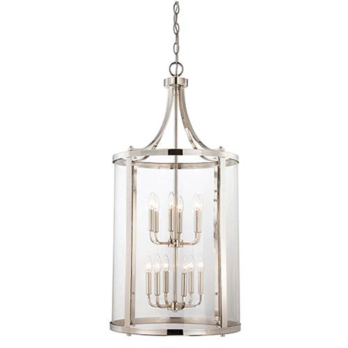Selby Chrome and Polished Nickel 12-Light Pendant