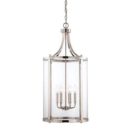 251 First Selby Chrome and Polished Nickel Six-Light Pendant