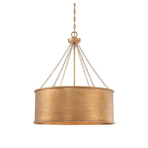251 First Vivian Gold Patina Six-Light Pendant