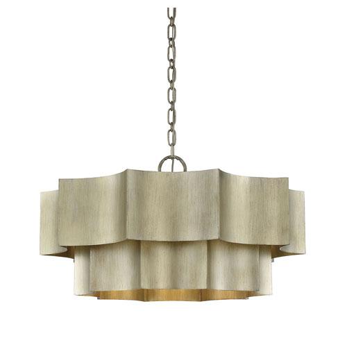 Whittier Silver Patina Six-Light Pendant