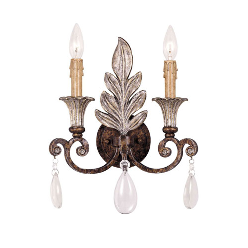 Wellington Rust Two-Light Wall Sconce