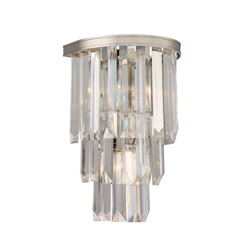 Vivian Polished Nickel Two-Light Wall Sconce