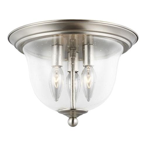 Selby Brushed Nickel Three-Light LED Flush Mount