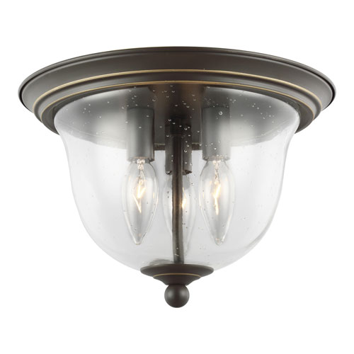 Selby Bronze Three-Light LED Flush Mount