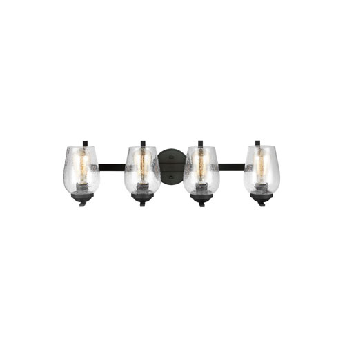 251 First Selby Black Four-Light Bath Vanity