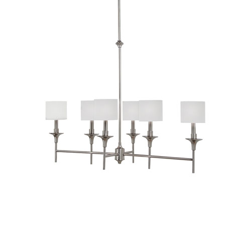 Selby Brushed Nickel Six-Light LED Pendant