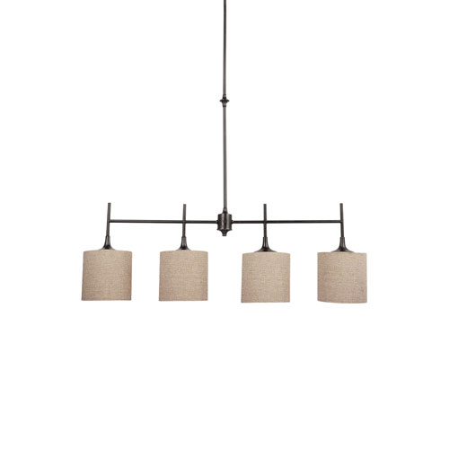 Selby Black with Bronze Accents Four-Light LED Island Pendant