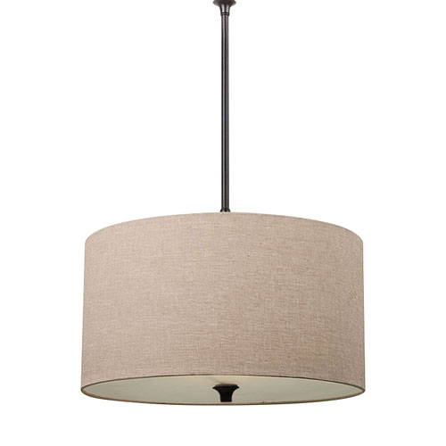 Selby Black with Bronze Accents LED Pendant