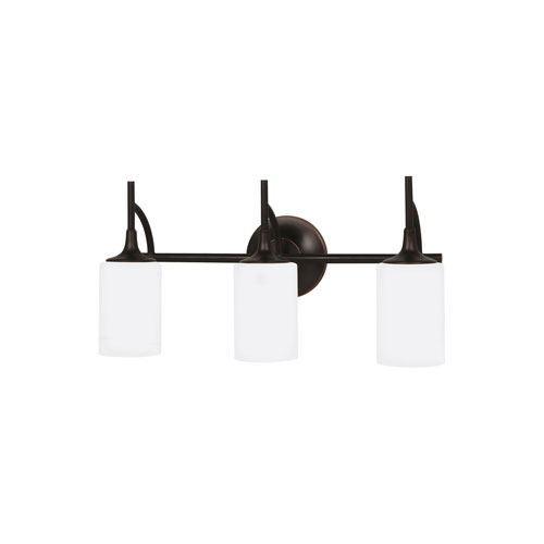 Selby Black with Bronze Accents Three-Light LED Bath Vanity