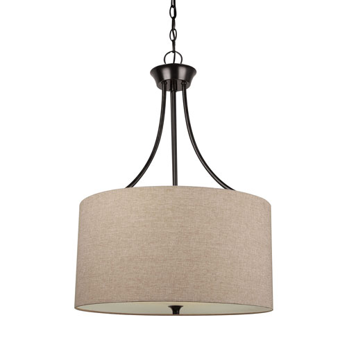 Selby Black with Bronze Accents Three-Light LED Pendant