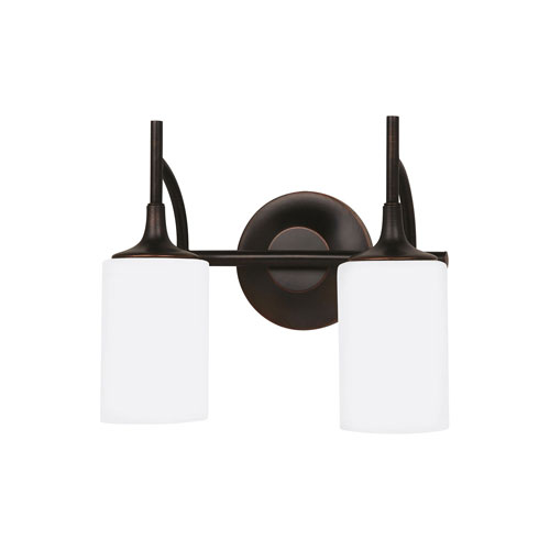 Selby Black with Bronze Accents Two-Light LED Bath Vanity