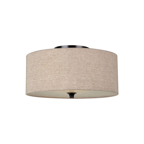 Selby Black with Bronze Accents Two-Light LED Flush Mount