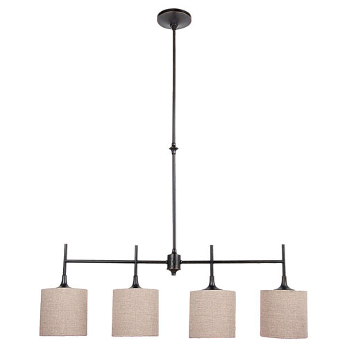 Selby Black with Bronze Accents Four-Light Island Pendant