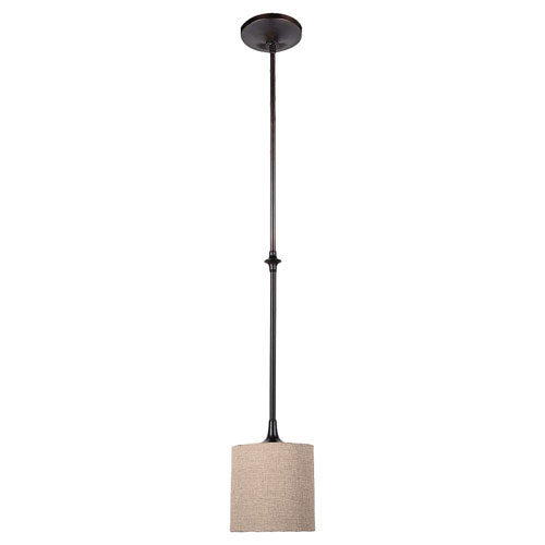 Selby Black with Bronze Accents One-Light Mini Pendant