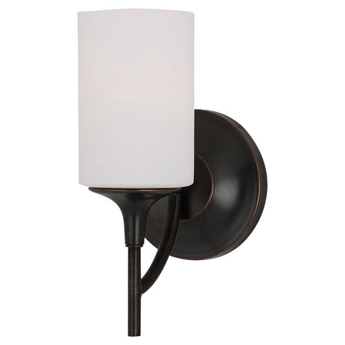251 First Selby Black with Bronze Accents One-Light Bath Vanity