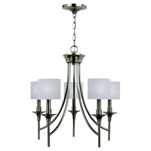 Selby Brushed Nickel Five-Light Chandelier