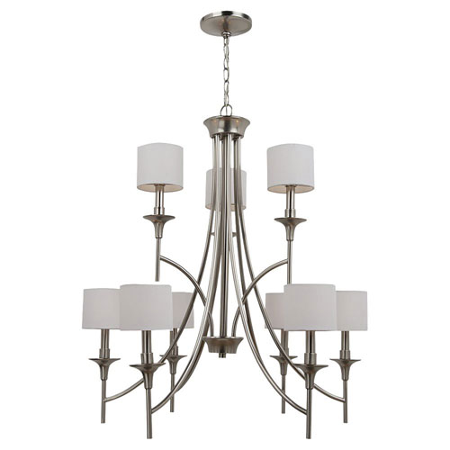 Selby Brushed Nickel Nine-Light Chandelier