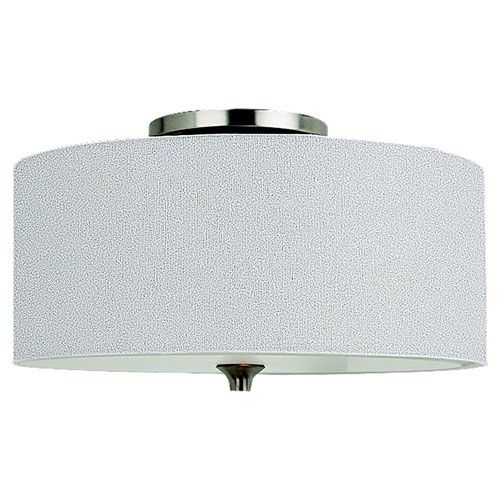 Selby Brushed Nickel Two-Light Flush Mount