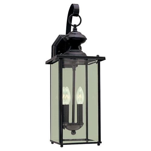 Evelyn Black Two-Light Outdoor Wall Sconce