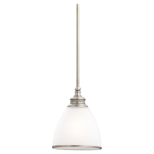 251 First Evelyn Antique Brushed Nickel One-Light Mini Pendant