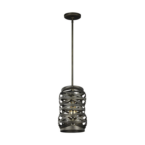 Fulton Textured Black One-Light Mini Pendant