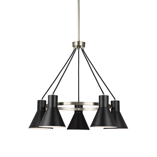 Loring Brushed Nickel Five-Light Chandelier