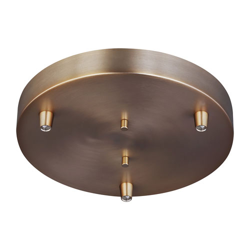Loring Bronze Three-Light Pendant Canopy