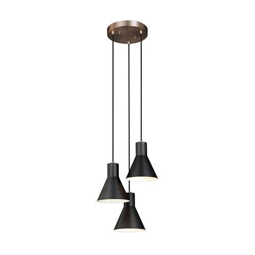 Loring Bronze Three-Light LED Pendant
